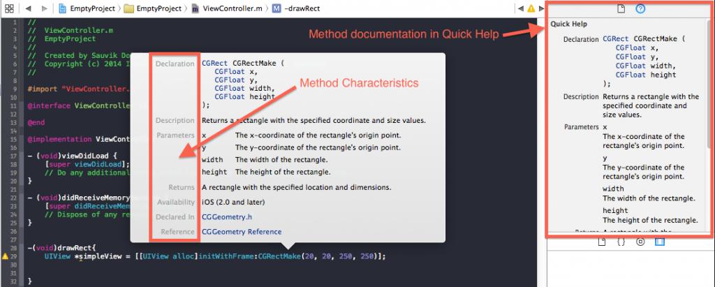 Apple's Method Documentation