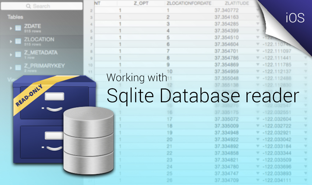 sqlite database reader ios app