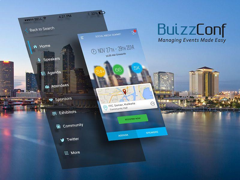 Buizzconf Portfolio – Event App Developed by Innofied