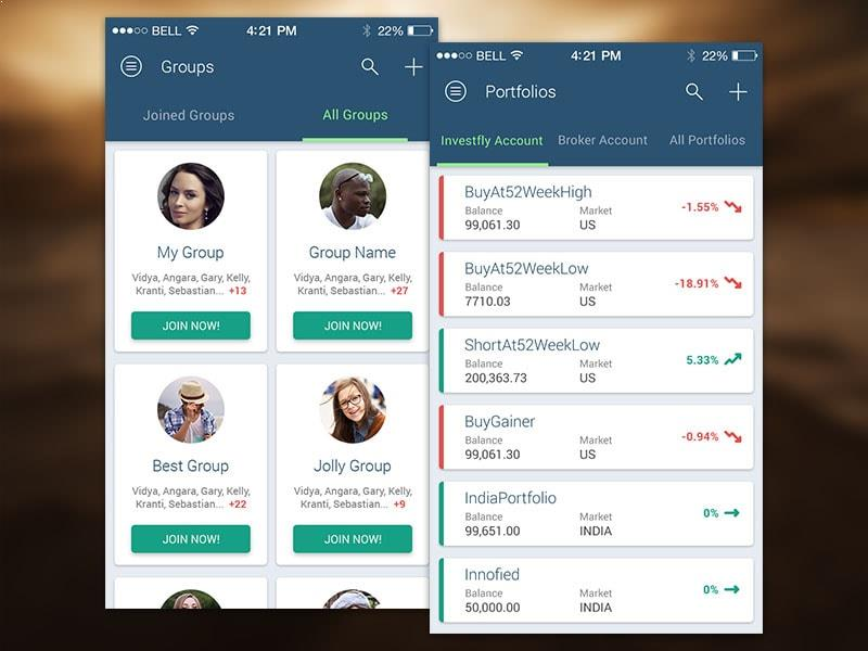 Investfly Portfolio – Investment App Developed by Innofied