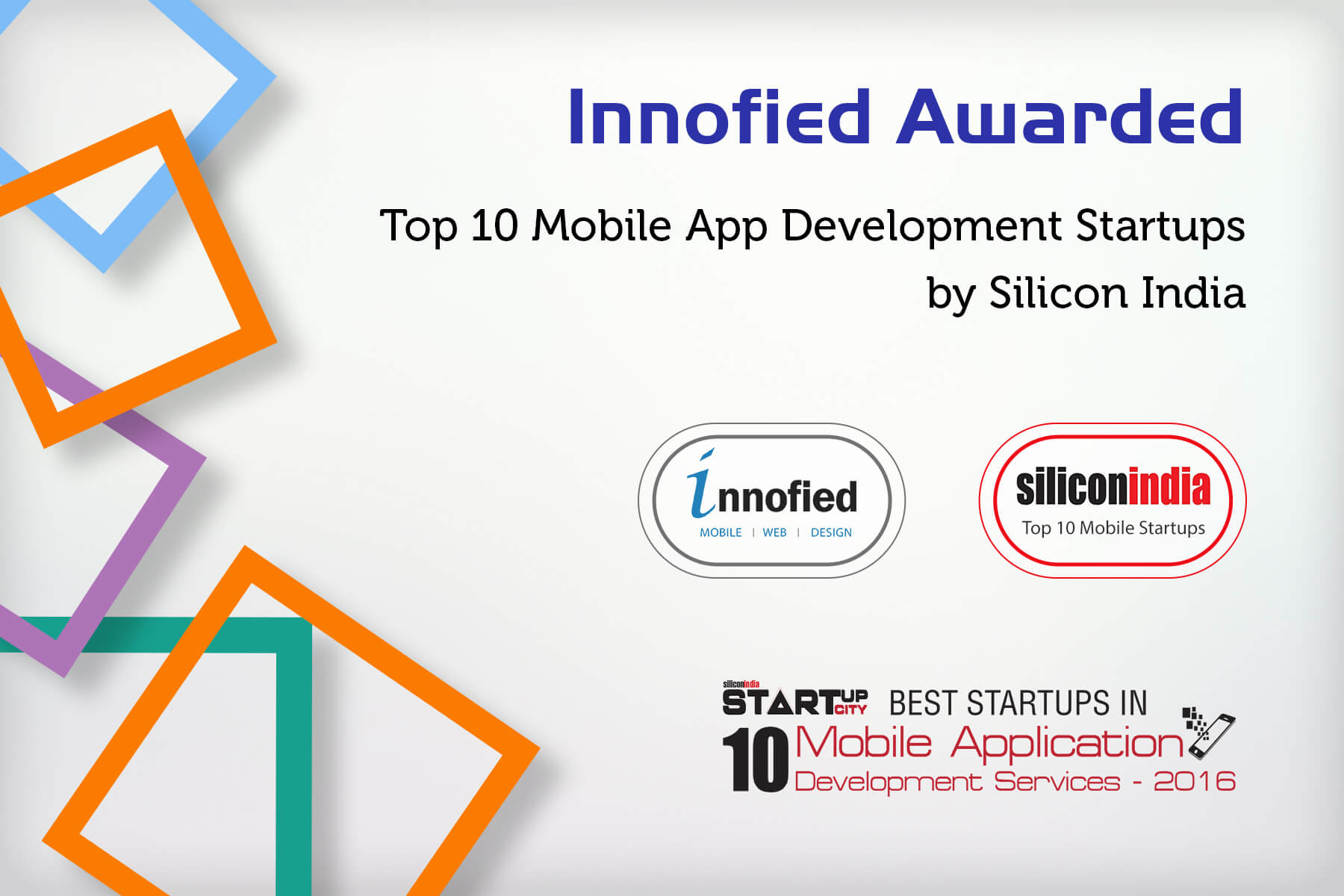Innofied Awarded by SiliconIndia v2.0
