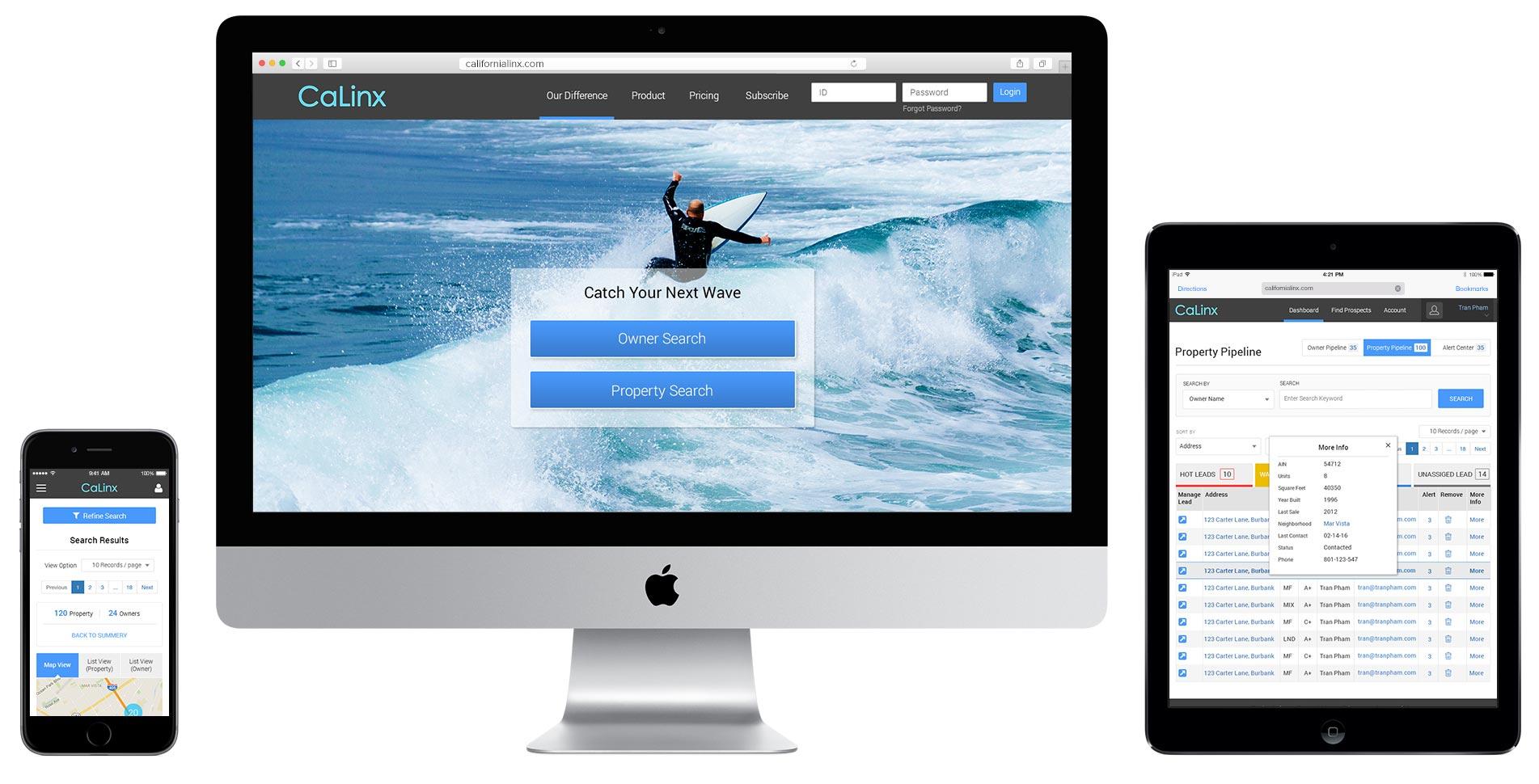 calinx-web-mob-apps-device-screens