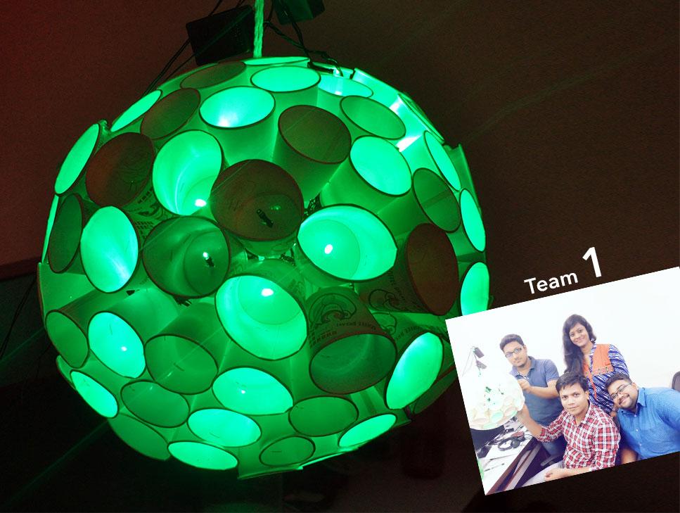 diwali lantern-2016-disco globe