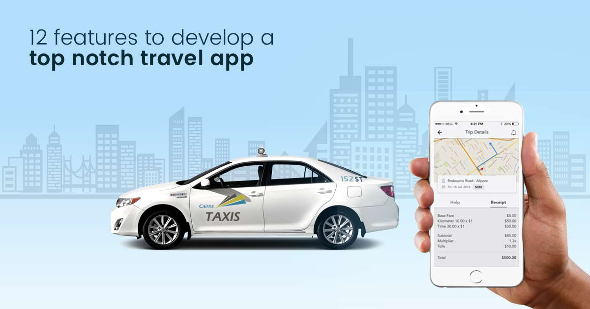 Features of travel app development