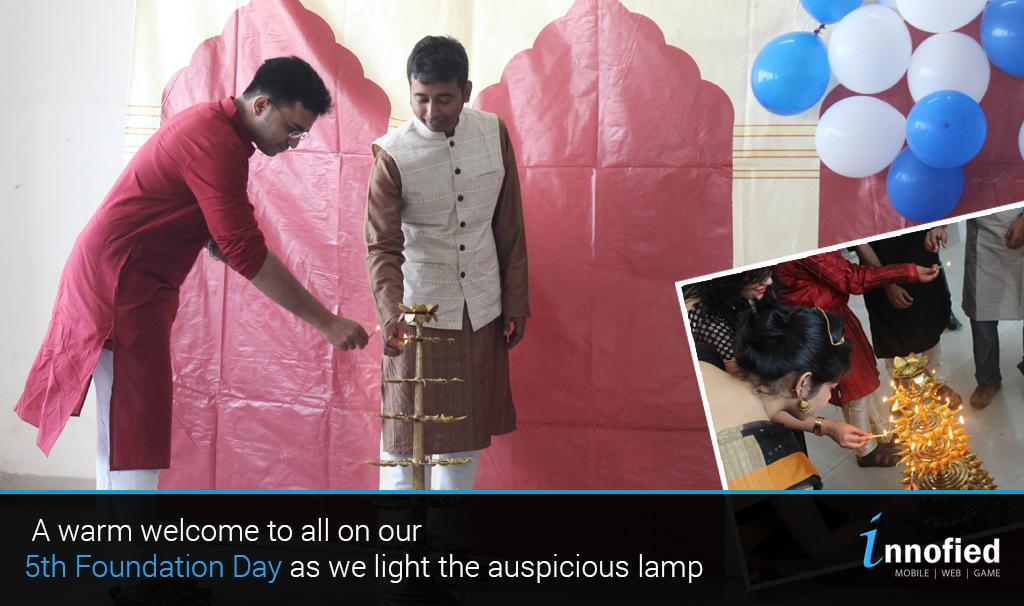 Lighting of Lamp