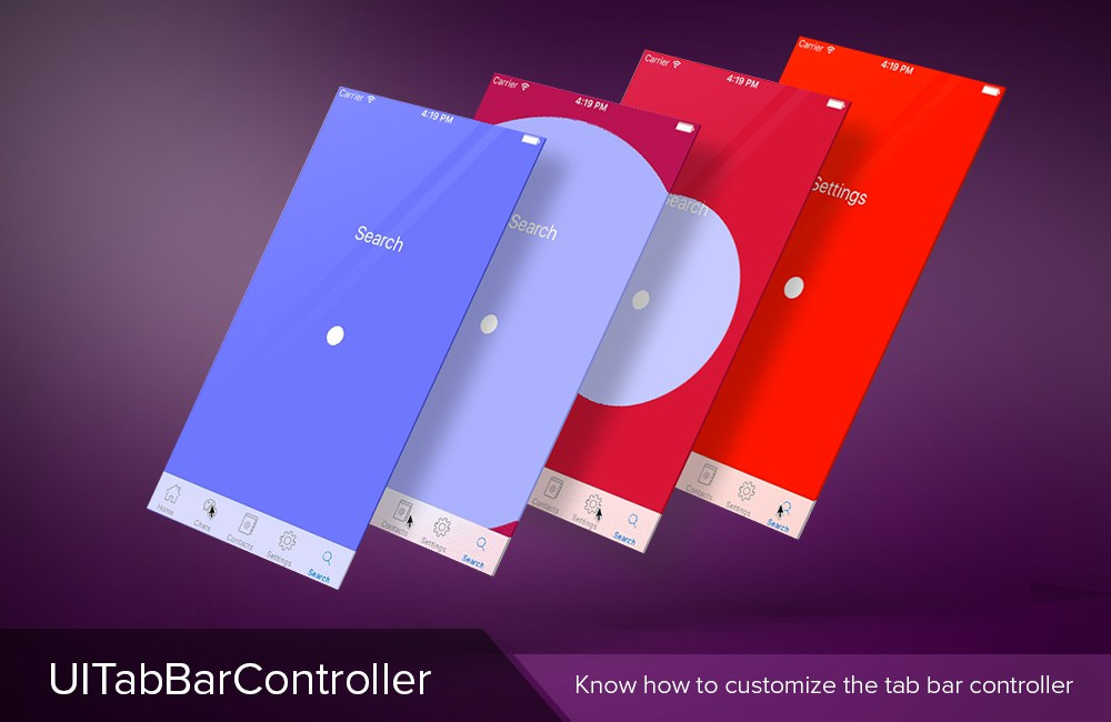 UITabBarController – Know how to customize the tab bar controller
