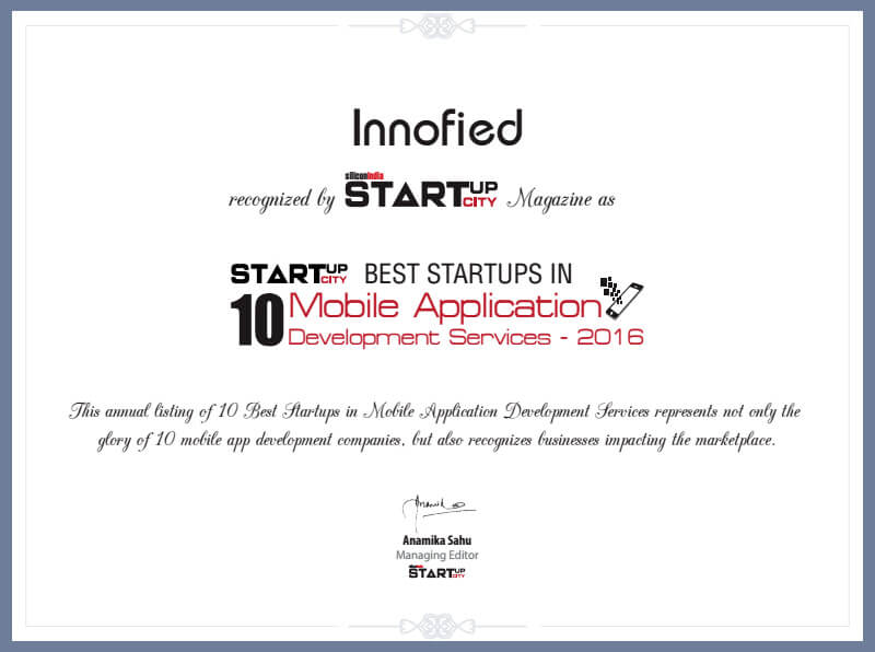 award from silicon India startup city magazine