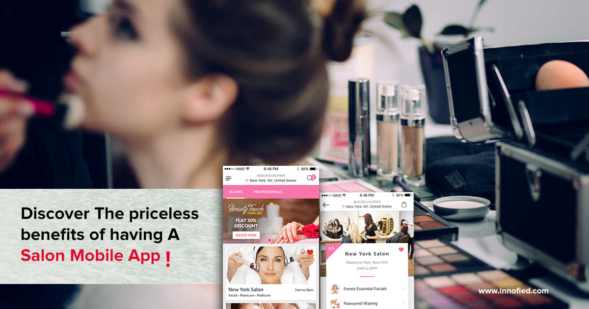 mobile app for beauty salon featured image