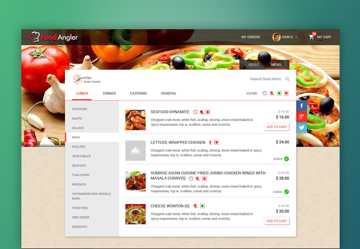 restaurant mobile app features admin