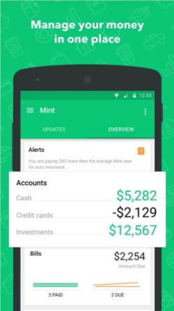 perosnal finance app development like mint