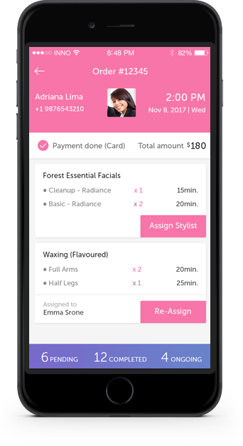 mobile app builder for salons